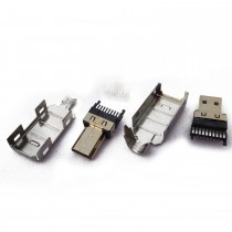 HDMI D Male, Solder Type For Cable End, 4 Kits
