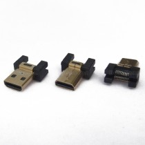 Micro HDMI Male Connector, Without PCB, Clamp Board Type