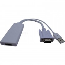 VGA Male and Audio to HDMI Female Converter
